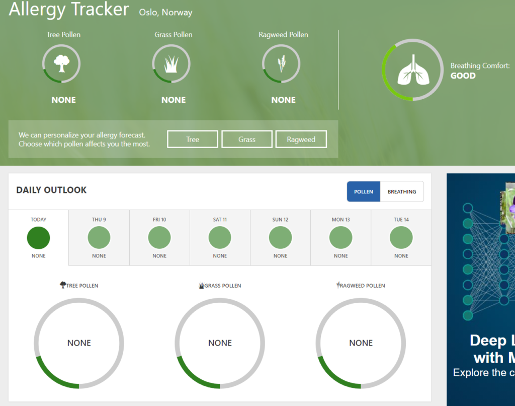 The Weather Channel Allergy Tracker 2